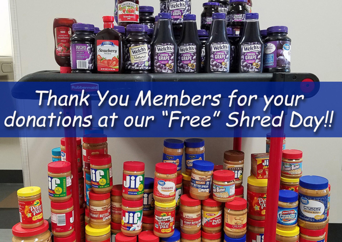 18 Total Pbj Collected At Shred Day Website