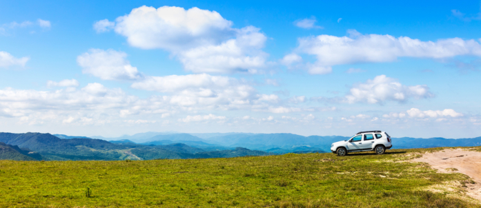 19 Car On Mountain Overlooking Valley