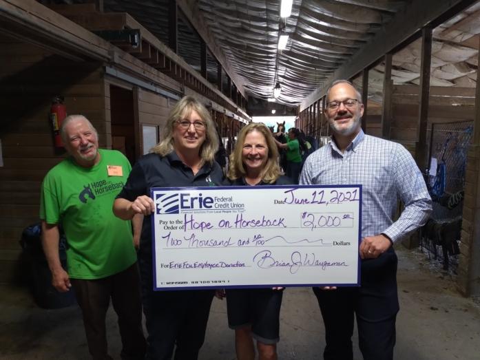Hope on Horseback donation