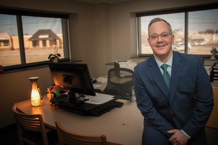 Erie FCU CEO Brian Waugaman Office Shot