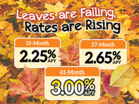 18 Share Certificate Fall Specials Rates