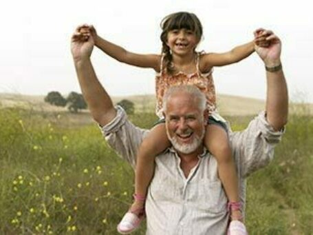 Social Security Seminar image child on older man's shoulders
