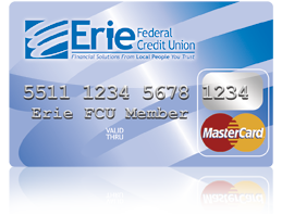 Erie FCU Debit Card Stock Image