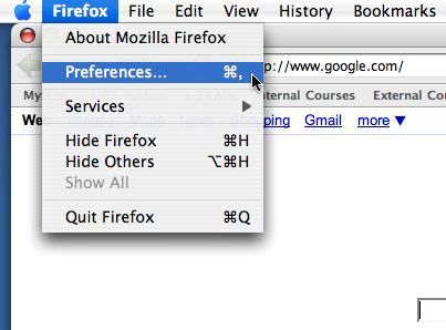 Firefox for Mac Browser Image
